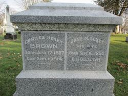 Jane M <I>Scott</I> Brown