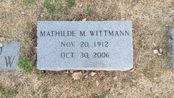 Mathilde M. <I>Braun</I> Wittmann