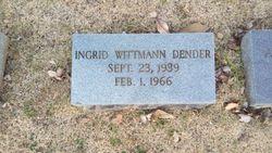 Ingrid Anna <I>Wittmann</I> Dender