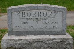 Eliza Jane <I>Dague</I> Borror