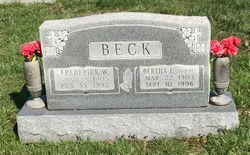 Bertha Elizabeth <I>Adrian</I> Beck