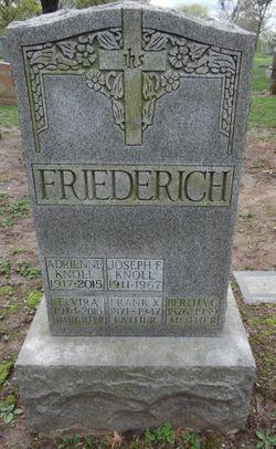 Bertha C <I>Widmer</I> Friederich