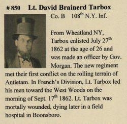 Lieut David Brainerd Tarbox