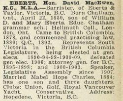 Judge David McEwen Eberts