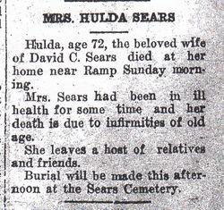 Hulda Richmond Sears (1850-1922) - Find A Grave Memorial