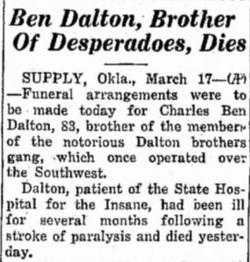 """Charles V """"Ben Dalton"""" Calton"""