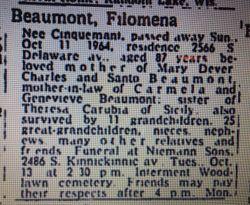 Filamena <I>Cinquemant</I> Beaumont