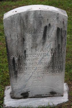 Hannah H <I>Swartzwelder</I> Van Horn