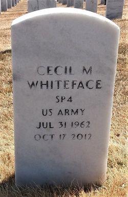 Cecil M White Face