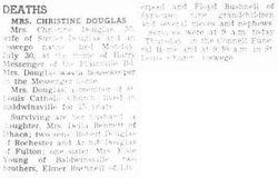 Christine Marguerite <I>Bushnell</I> Douglas