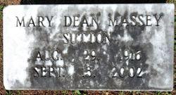 Mary Dean <I>Massey</I> Sutton
