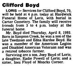 Joseph Clifford Boyd, Sr