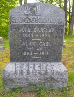 Alice <I>Carl</I> Barclay
