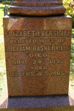 Elizabeth <I>Kerslake</I> Baskerville