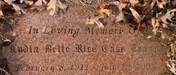 Lydia Belle <I>Rice</I> Evans