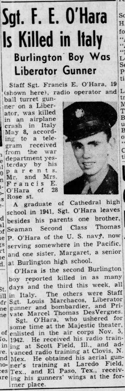 SSgt Francis E O'Hara, Jr