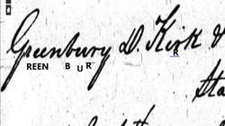 Rev Greenbury Dorsey Kirk