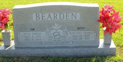 "Margaret Elizabeth ""Betty"" <I>Thomas</I> Bearden"