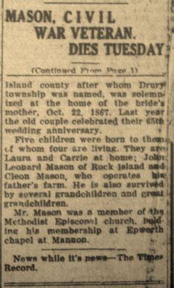Albert Strickler Mason (1839-1933) - Find A Grave Memorial