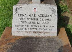 Edna Mae <I>Angelo</I> Ackman
