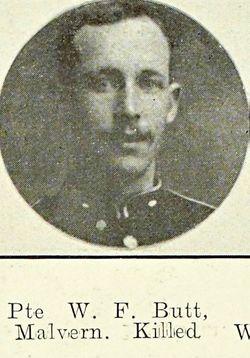 Private William Frederick Handley Butt