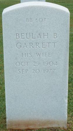 Beulah B <I>Garrett</I> Bagwell