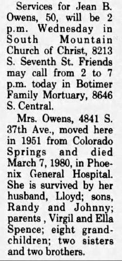 Barbara Jean <I>Spence</I> Owens