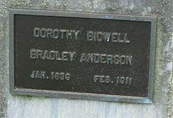 Dorothy <I>Bidwell</I> Bradley Anderson