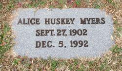 Alice <I>Huskey</I> Myers