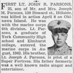 1LT John Robert Parsons