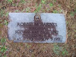 Sgt Robbie Montague Barnes