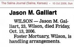 Jason Martin Galliart (1982-2006) - Find A Grave Memorial