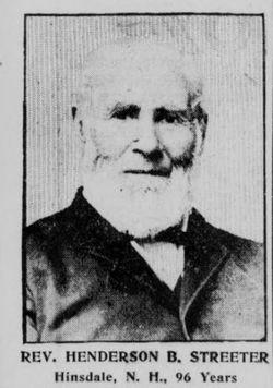 Rev Henderson Barlow Streeter