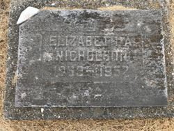 """Elizabeth Ann """"Bettie"""" <I>Wheeler</I> Nicholson"""
