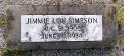 Jimmie Lou <I>Meeks</I> Simpson