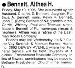 Althea <I>Herrington</I> Bennett