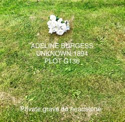Adeline Elizabeth <I>Wynes</I> Burgess