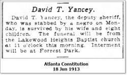 David T Yancey