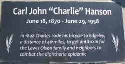"""Carl John """"Charlie"""" Hanson"""