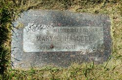 Mary E <I>Redding</I> Hallett
