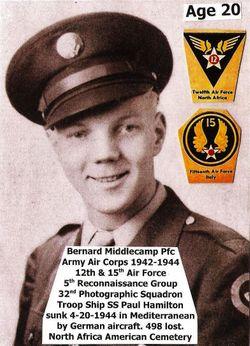 PFC Bernard Middlecamp