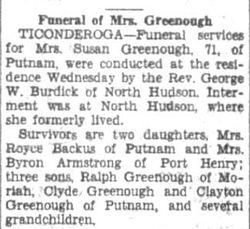 Susan M. <I>Sprague</I> Greenough