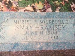 Muriel Elizabeth <I>Bourbonais</I> Snay - Ramsey