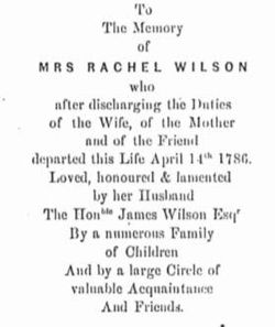 Rachel <I>Bird</I> Wilson