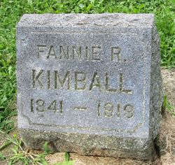 "Frances Ann ""Fannie"" <I>Richards</I> Kimball"