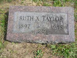 Ruth X <I>Bennett</I> Taylor