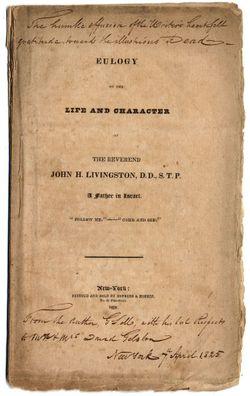 Rev John Henry Livingston