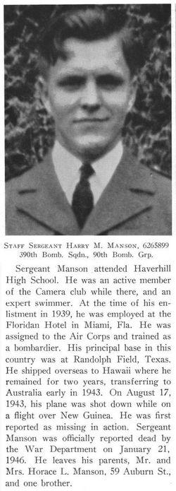 SSgt Harry M Manson