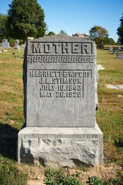Harriette E. <I>Lundy</I> Stimson