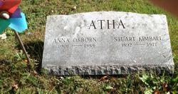 Anna <I>Osborne</I> Atha
